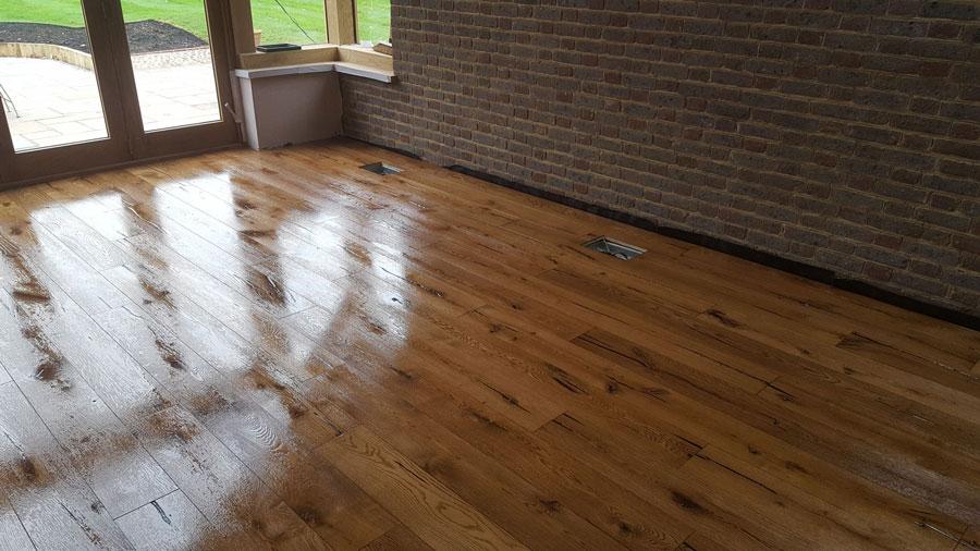 Engineered Board Rustic Grade Oak Osmo After