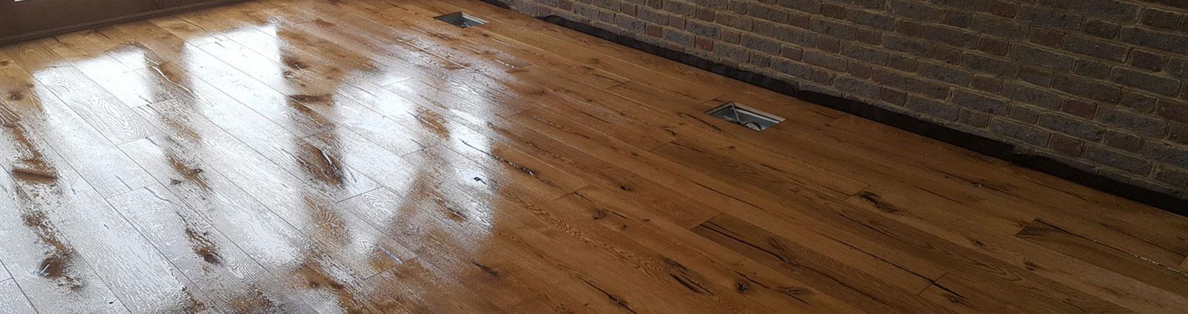 Engineered Board Rustic Grade Oak Osmo After Wet