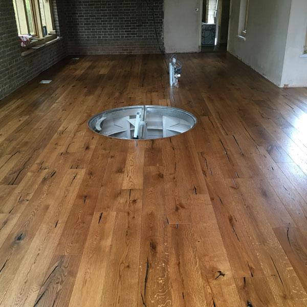 Engineered Oak Floor Wine Cellar