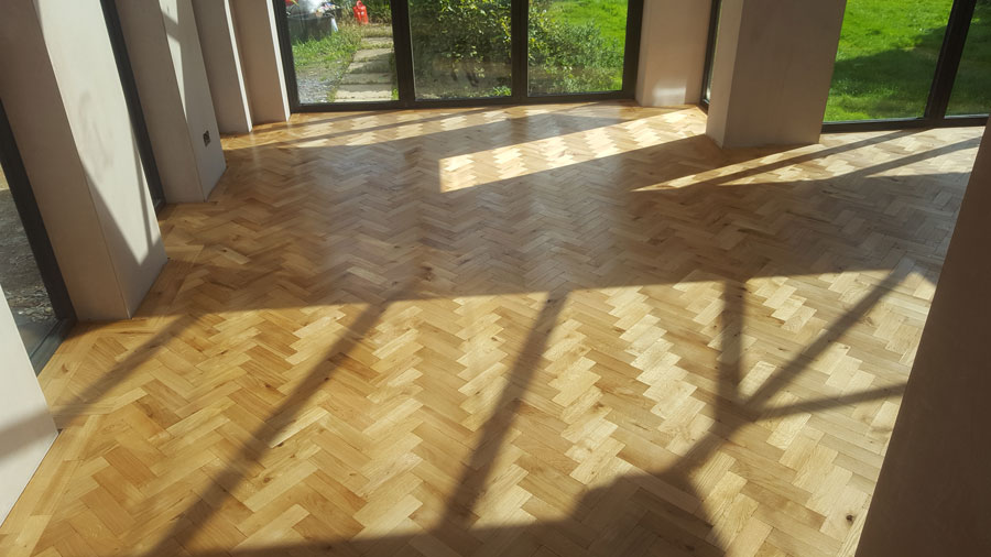 Parquet Floor Completed Dry After