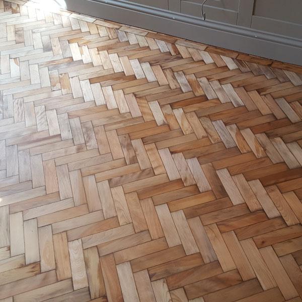 Parquet Floor Sanded Pre Finish