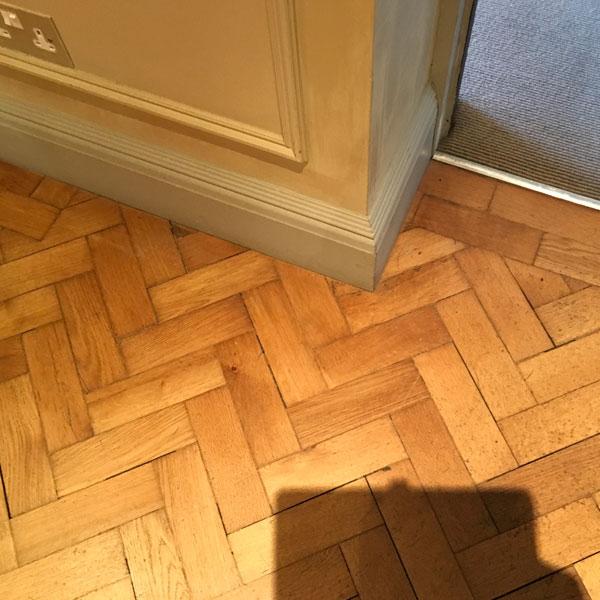 Parquet Flooring Fitted in Progress