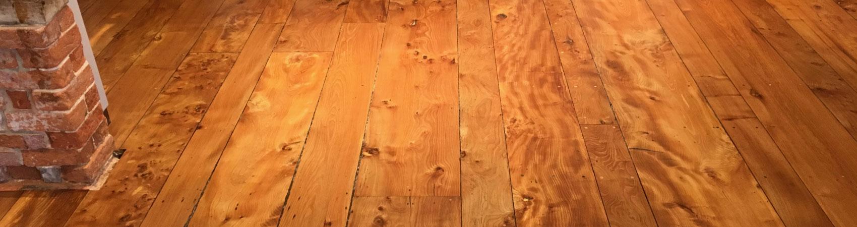 Solid Elm Floor Restoration