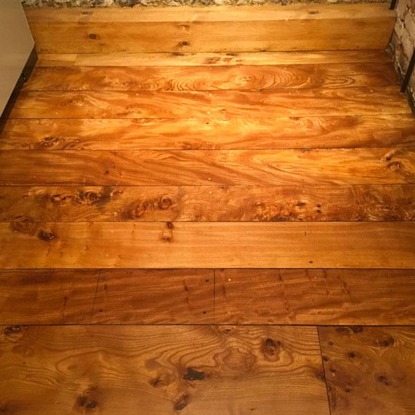 Solid Elm Floor Restoration Watermill