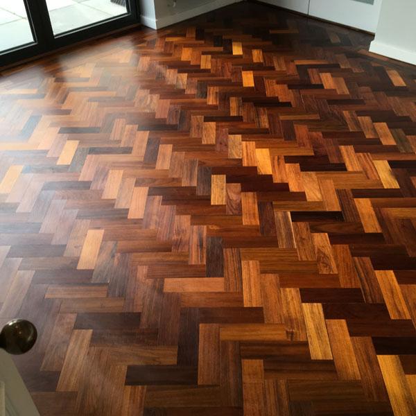 Teak Parquet Flooring Job Completed