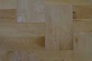 Solid Wood Parquet Maple Double Herring Bone Pattern
