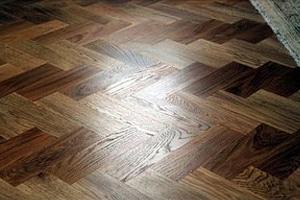 SOlid wood parquet oak dark stained web